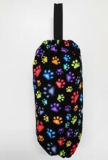 PLASTIC BAG SAVER; NEON KITTY CAT PAWS FABRIC; FULLY LINED - 0082