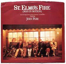 """45 rpm John Parr """"St. Elmo's Fire"""" & David Foster """"One Love"""" 1985 art dust  A042"""