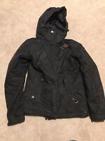 Black womens roxy ski/snowboard jacket (L/12-14)