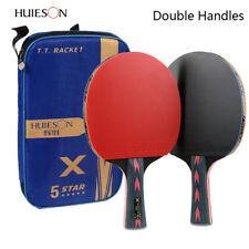 Huieson 2Pcs/Pair Carbon Fiber Table Tennis Racket Ping Pong Paddle Bat With Bag