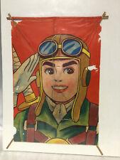 Vintage Japanese Soldier wwIi 0sen antique kite zero sen character manga print