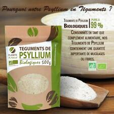 Psyllium Bio téguments 500g Agriculture Complement Alimentaire Tegument Fibre FR