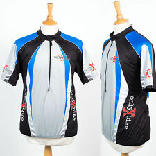 ONLY X BIKE GREY BLACK & BLUE CYCLING SHIRT JERSEY ROAD BIKE RETRO XL