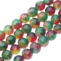 50PCS Semi Precious Natural Floral Stone Round Beads For Jewellery Making 8MM