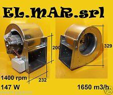 Ventilatore Aspiratore Centrifugo DD 7/7 Motore Monofase 147 W cappa industriale
