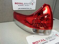 Toyota Sienna 11-14 Left Rear Outer Tail Light Lamp Genuine OEM (LE, XLE, STD)