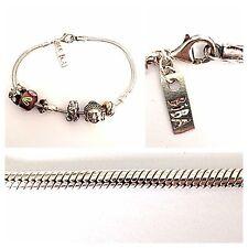 Bettelarmband BIBA 925er Silber Armband mit beweglichen Gliedern Silberarmband