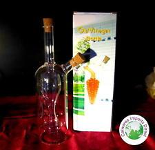 NEW OIL & VINEGAR Glass Bottles with Wine Glass inside for Balsamic