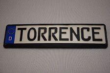 ORIGINAL GERMAN EUROPEAN CAR LICENCE PLATE AND FRAME TORRENCE