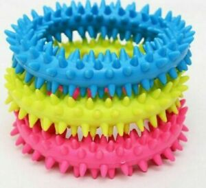 Dog Toy Puppy Soft Rubber Teething Play Pet Train Healthy Gum Chew Ring 0057