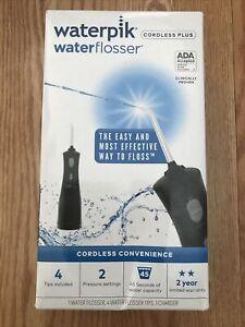 Waterpik Waterflosser Cordless Plus Black WP-462W New Sealed |0558
