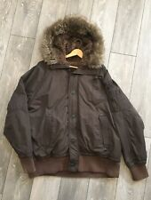 American Eagle Parka Fur Hood Mens 3XL Eskimo Winter Coat Jacket Brown EUC