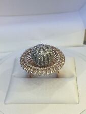 Pave 2.56 Cts Round Brilliant Cut Natural Diamonds Ring In Solid 14K Rose Gold
