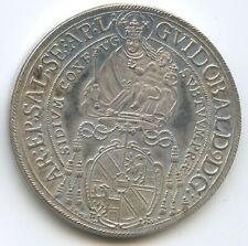 GX024 Silbermedaille Salzburg 1 Taler 1656 (1979) Guidobald von Thun Hohenstein