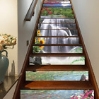 3d Waterfall Flowers Landscape Self-adhesive Staircase Stickers Home Decor
