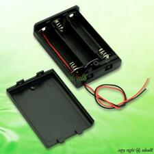 BLACK 3 AA BATTERY CASE BOX WITH ON OFF SWITCH EE4068 5809915