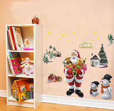 Santa Christmas Tree Wall Stickers Window Decal Mural Vinyl Home Decor Removable