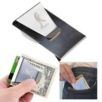 Slim Stainless Steel Double Sided Money Clip Wallet Credit Card ID Holder