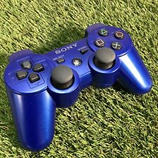 Metallic Blue Sony PS3 Dualshock 3 Wireless Controller - CECHZC2H PlayStation 3