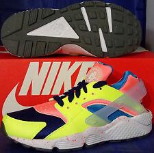 Womens Nike Air Huarache Run iD Volt Hot Lava Deep Royal Blue SZ 6.5 #777331-994