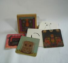 """set of 8 """"Adult Contemporary"""" beverage coasters + drawing"""