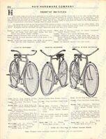 1920s Antique Hardware Ad Tribune Bicycles: Motorbike Roadster Junior Roadster