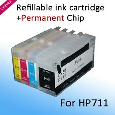 For HP711 Refillable cartridge with show ink level chip for Designjet T120 T520