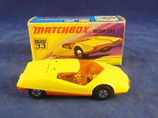 MATCHBOX superveloce MB - 33 B DATSUN 126X in giallo arancione Painted base