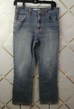 Chico's Platinum Light Blue Bootcut Distressed Denim Jeans, Size 0 Short