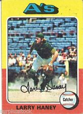 1975 Topps Mini 626 Larry Haney UER/(Photo actually/Dave Duncan) (2015-0497)