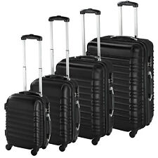 TecTake Set di 4 Valigie ABS Trolley - Nere
