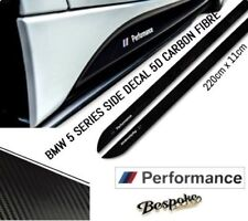 BMW 5 SERIES F10/11 E60/61 M PERFORMANCE SIDE STICKER SKIRT DECAL CARBON FIBRE