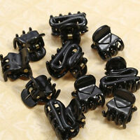 Simple Fashion 10 Mixed Small Plastic Black Hair Clips Hairpin Claws Clamps c