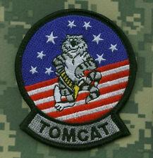 USN F-14 TOMCAT F-14 FIGHTER SQN TOMCAT velkrö PATCH: Original 'n Correct Design