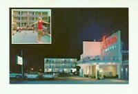AZTEC MOTEL, ATLANTIC CITY, NEW JERSEY CHROME POSTCARD
