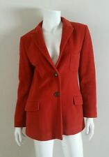 JIL SANDER Burnt Dark Orange Angora Wool Blazer Jacket sz 36 US 4 S
