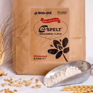 Bio-Oz e3 Spelt WHOLEMEAL Flour 4.7kg Australian Grown