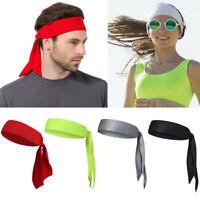 Unisex Bandana Sports Scarf Head Tie Sweatband Tennis Basketball Head Band Hat