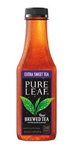 Pure Leaf Iced Tea, Extra Sweet, 18.5 Fl Oz (Pack of 12), Single Flavor Pack