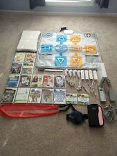 Nintendo Wii Console Bundle with Balance Board, Dance Mat and Lots of Games