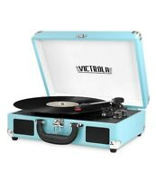 Innovative Technology Victrola 550BT-TRQ Bluetooth Suitcase Turntable Turquoise