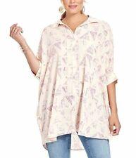 w Melissa McCarthy seven 7   pink tunic   blouse top shirt L 4X