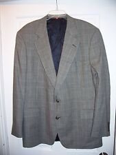 Men's Jos. A. Bank Suit Jacket ONLY Size 44 Black & White Checked 100% Wool