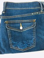 Nice Women's Lucky Brand Sweet N' Crop Dark Blue Denim Jeans, Size 8/ 29