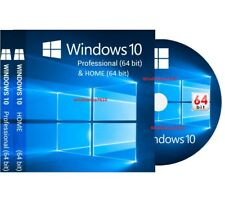 WINDOWS 10 PROFESSIONAL 64-BIT + HOME Bootable Install DVD Full Version Repair