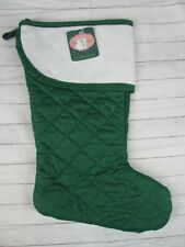 Charles Craft Christmas Stocking Quilted Aida Cross Stitch Cuff Green Dot New