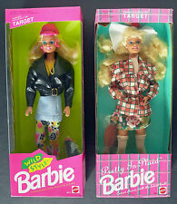 PRETTY in PLAID 5413 and WILD STYLE 0411 BARBIE Dolls Target Exclusive 1992 NRFB
