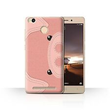 STUFF4 Case/Cover for Xiaomi Redmi 3 Pro/3S Prime/Animal Stitch Effect/Pig