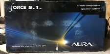 """1 Pair NEW Old School Aura Force 5.1 5.25"""" Component speakers,Rare,USA,NOS,NIB"""