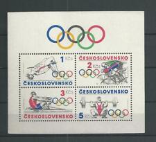 1984 MNH Tschechoslowakei Mi block 60